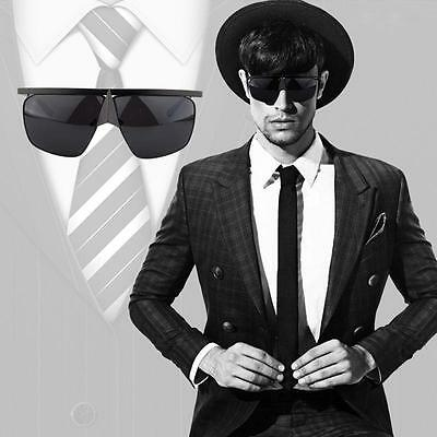 Mens Fashion Mirror Lens Flat Top Sunglasses Womens Full-rim Retro Metal Eyewear