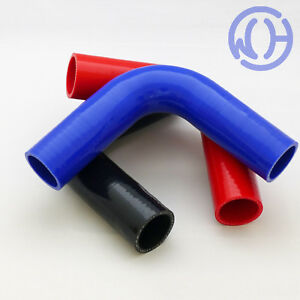28mm 90 degree Silicone Turbo and Coolant Reinforced Hose Elbow ID Red