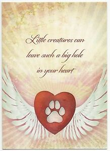 Loss Of Pet >> Details About Pet Sympathy Card Loss Of Dog Or Cat Made W Earth Friendly Materials In Usa