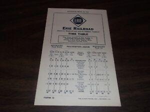 APRIL-1940-ERIE-RAILROAD-FORM-15-ROCHESTER-TO-AVON-PUBLIC-TIMETABLE