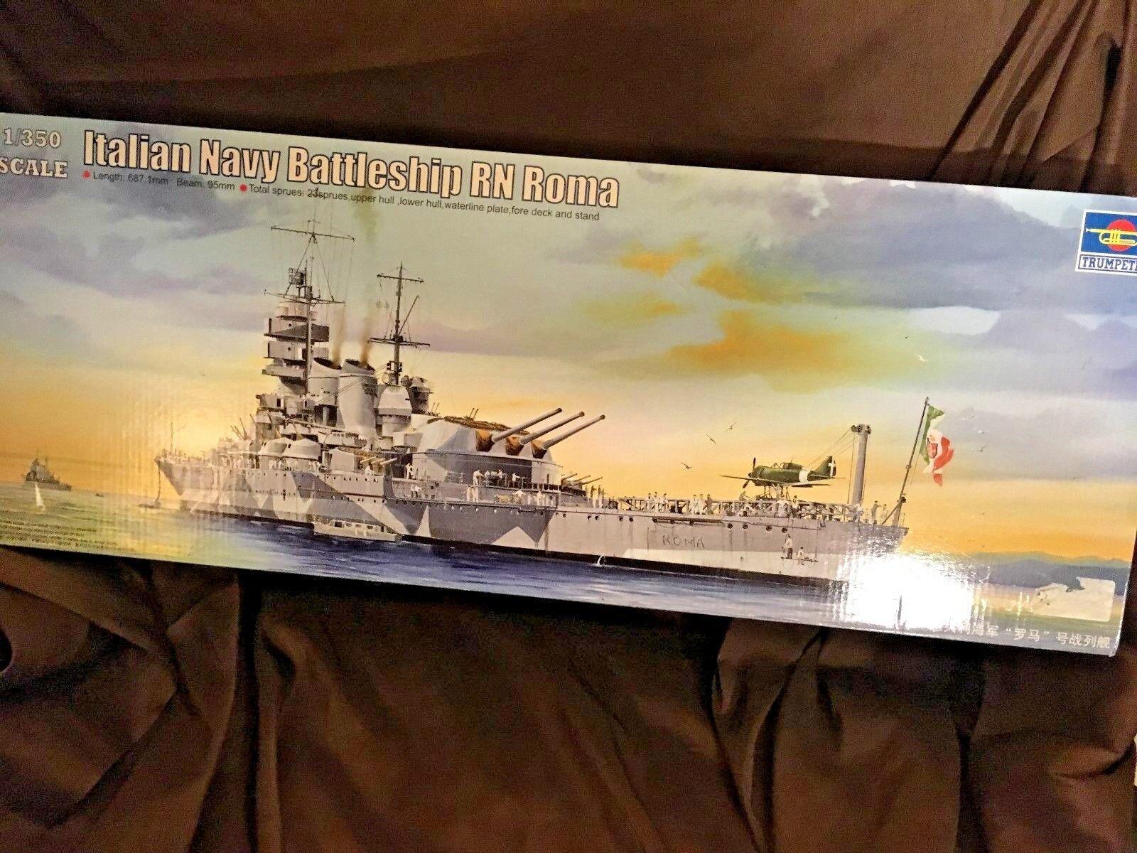 05318 Trumpeter Italian Navy Battleship RN Roma Warship Kit 1 350 Model DIY