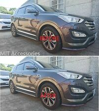 For Hyundai Santa Fe 2013-on Side body fender molding trim vent chrome