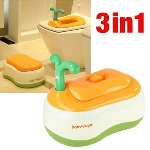 Image is loading Baby-Children-Potty-Chair-Potty-Training-Toilet-Seat-  sc 1 st  eBay : potty chair step stool - islam-shia.org