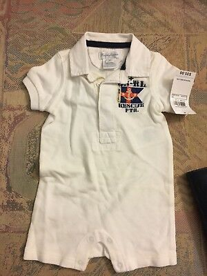 Well-Educated Polo Ralph Lauren Baby Boy Romper Sz 3 Months Us Coastal Patrol Baby & Toddler Clothing