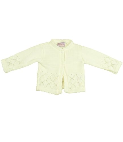 Babyprem Bébé Fille Vêtements en Tricot Rose Crème Cardigan Cardie Pullover 0-18 m