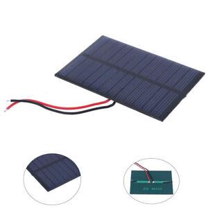 Portable-0-6W-6V-Mini-Solar-Panel-Module-80-55mm-Polysilicon-DIY-100mm-Cable-UK