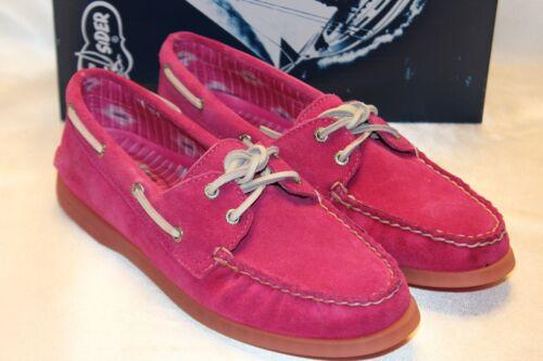 NIB Sperry Top Sider A//O 2 Eye Fuchsia Pink Suede Boat Shoes Sz 8.5 9  $90 NEW