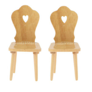 Swell Details About 2Pcs 1 12 Scale Wooden Chair Dollhouse Miniatures Mini Furniture Decoration Download Free Architecture Designs Scobabritishbridgeorg
