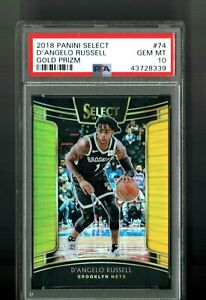 GEM-MINT-D-039-ANGELO-RUSSELL-PANINI-SELECT-2018-GOLD-PRIZM-10-PSA-10