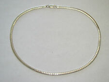 "16"" Sterling Silver 4mm Omega Necklace - 20.15 Grams - Item# P345"