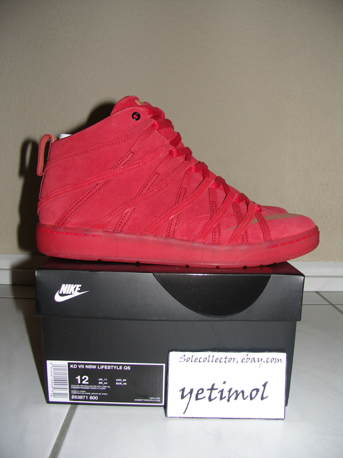 NIKE KD VII Lifestyle Challenge Red DS US 12//EUR 46