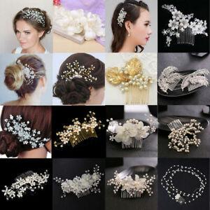 Luxury-Crystal-Rhinestone-Flower-Wedding-Bridal-Hair-Comb-Hairpin-Clip-Jewelry