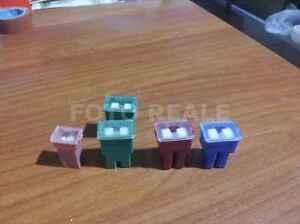 KIT-5-FUSIBILI-AUTO-GIAPPONESI-JAPVAL-N-1-30-N-2-40-N-1-50-N-1-100-AMPERE-JAPAN