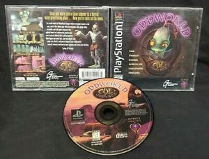 Oddworld Abe's Oddysee Playstation 1 2 PS1 PS2 Game Works! Tested Near Mint Disc