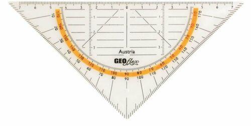 16 cm GEOtec Geometriedreieck GEOflex transparent Kunststoff