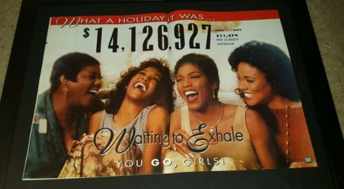 Waiting To Exhale Whitney Houston Rare Box Office Promo Poster Ad Framed!