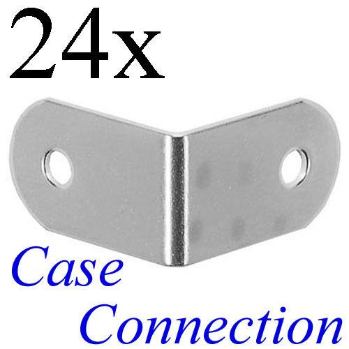 24x Schließwinkel 31x19mm verzinkt # L-Ecke L-Winkel Brace Steel Stahl