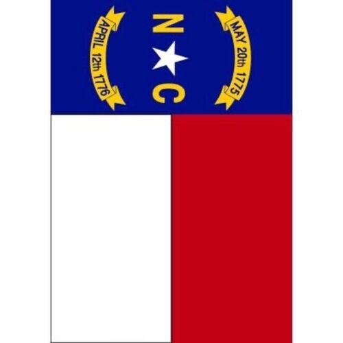 "North Carolina State Flag-Garden Flag-Double Sided Appliquéd-13""X18"""