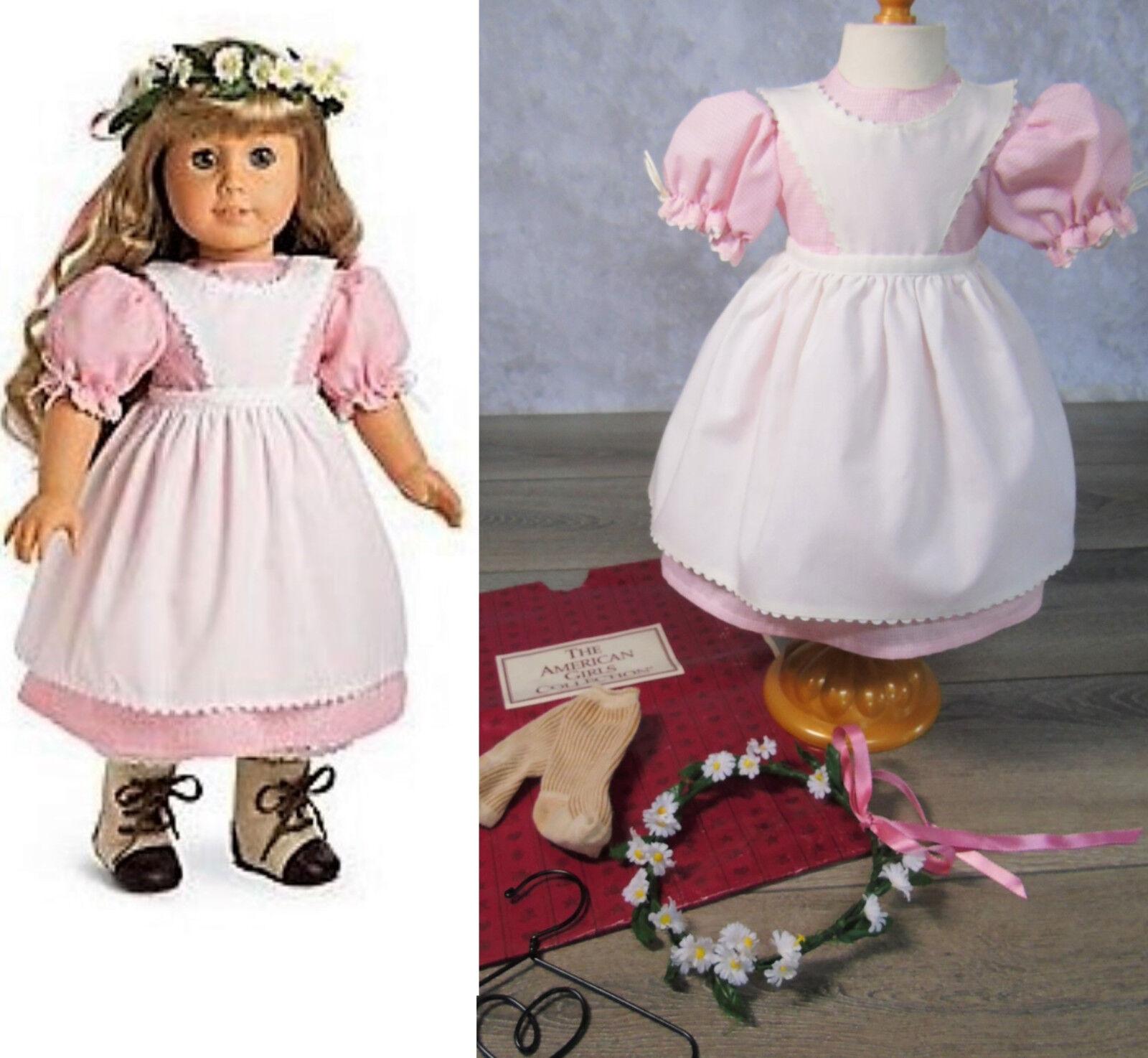 American Girl Pleasant Company Kirsten Geburtstag Outfit Schürze Kleid Kranz Ag