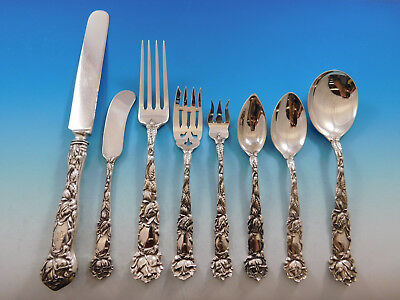 Bridal Rose By Alvin Sterling Silver Flatware Set Service 98 Pieces Dinner Size A Wide Selection Of Colours And Designs Furniture