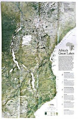 2011 11 Africa S Lakes Great Rift Valley National Geographic Map Poster Ebay