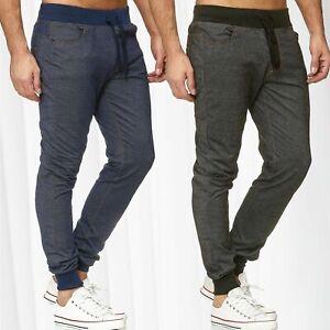 Pantalon-de-jogging-en-jeans-pour-homme-de-survetement-Sports-Jogging-Slim-Fit