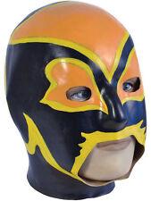 Adult Latex Overhead Wrestling Mask Fancy Dress Power Superhero Halloween