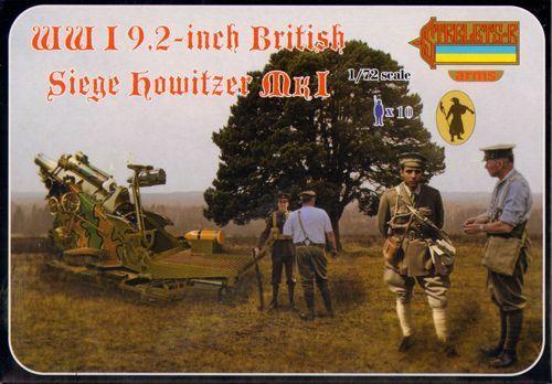 Strelets 1//72 WWI 23.4cm Britisch Belagerung Howitzer A012