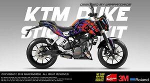 Details About Ktm Duke 125200390 Full Body Wrap Decal Sticker Kit Gymkhana Design