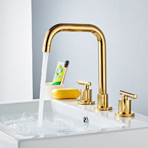 Polished Gold Bathroom Sink Faucet