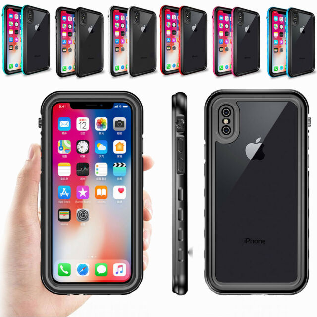 big sale 20856 fab78 IP68 Water Shock Dust Proof 360° Full Cover Case for Apple iPhone X XS MAX  6 7 8