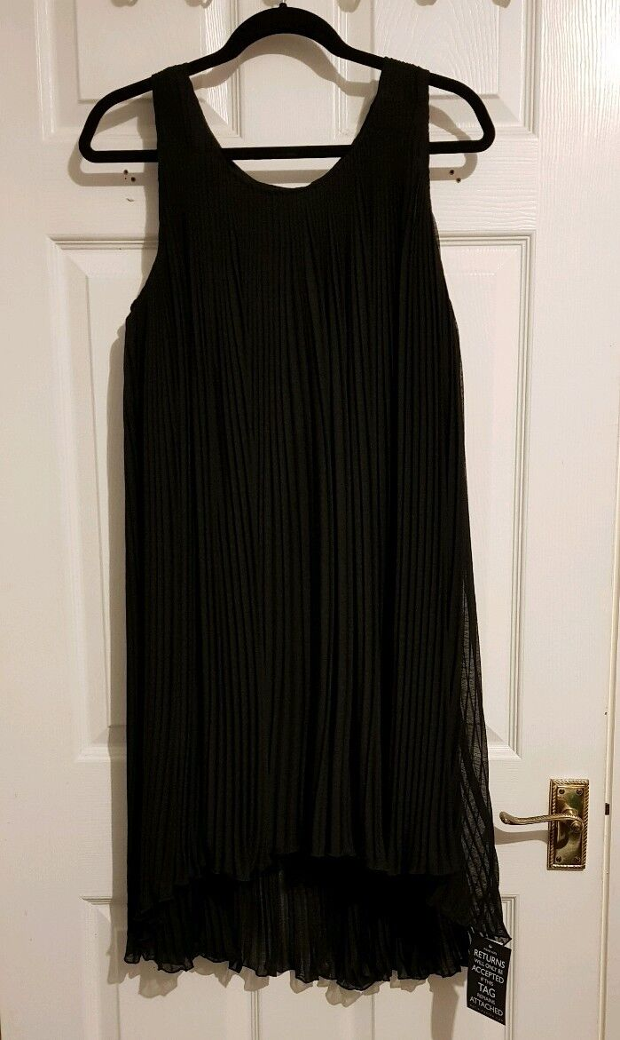 DAY BIRGER PLEATED CREPE DRESS (BNWT) DK 38