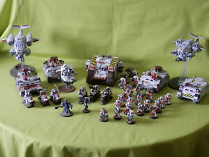 WARHAMMER-40K-SPACE-MARINES-ARMY-WHITE-SCARS-MANY-UNITS-TO-CHOOSE-FROM