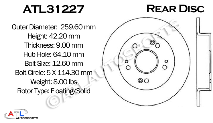 F+R Set Double Drilled Slotted Zinc Coated Premium Performance Rotors  ATL029398