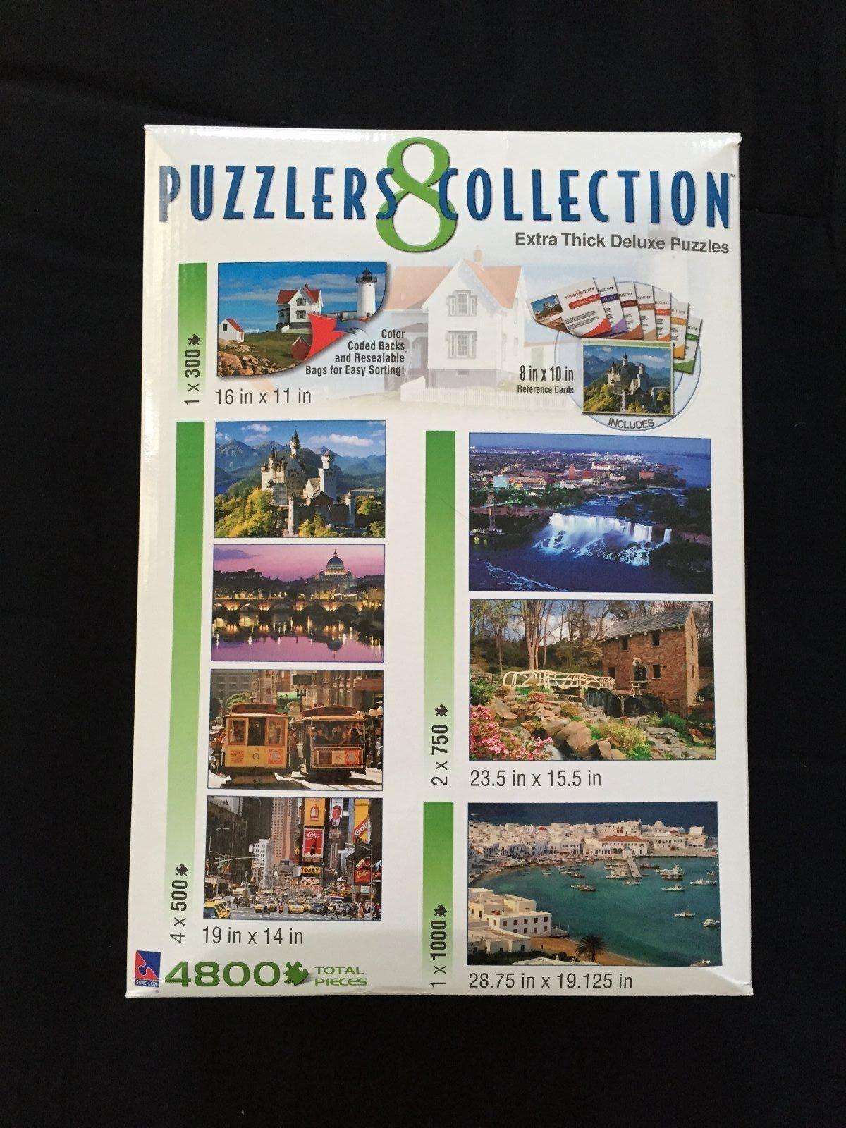acquistare ora PUZZLERS COLLECTION Jigsaw Puzzles 4800 TOTAL Pieces 8 8 8 SCENIC PcalienteOS Coloreeee Coded  promozioni eccitanti