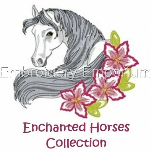 MACHINE EMBROIDERY DESIGNS ON CD OR USB ENCHANTED HORSES COLLECTION