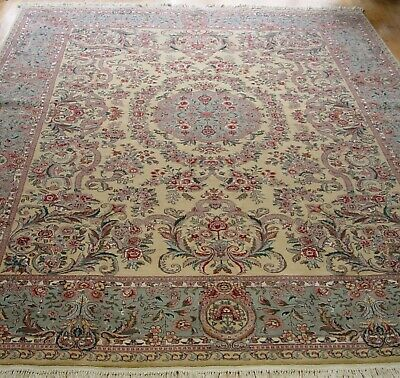"Rugs & Carpets Hand Washed&cleaned 8'11"" X 12'3"" Hand Knotted Wool Pakistan India Oriental Rug"