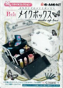 Re-Ment-Japanese-Miniature-Make-up-Box-Complete-Set-of-3-Black-White-Clear
