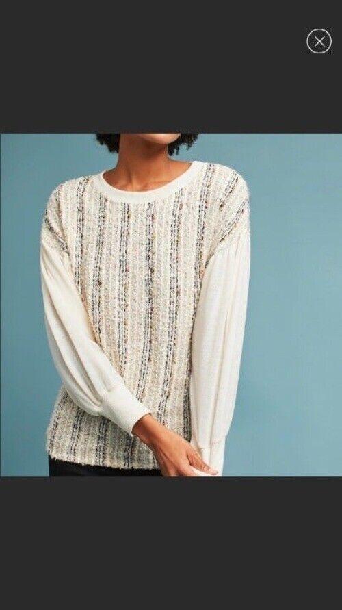 ANTHROPOLOGIE Deletta Textured Knit M - image 1