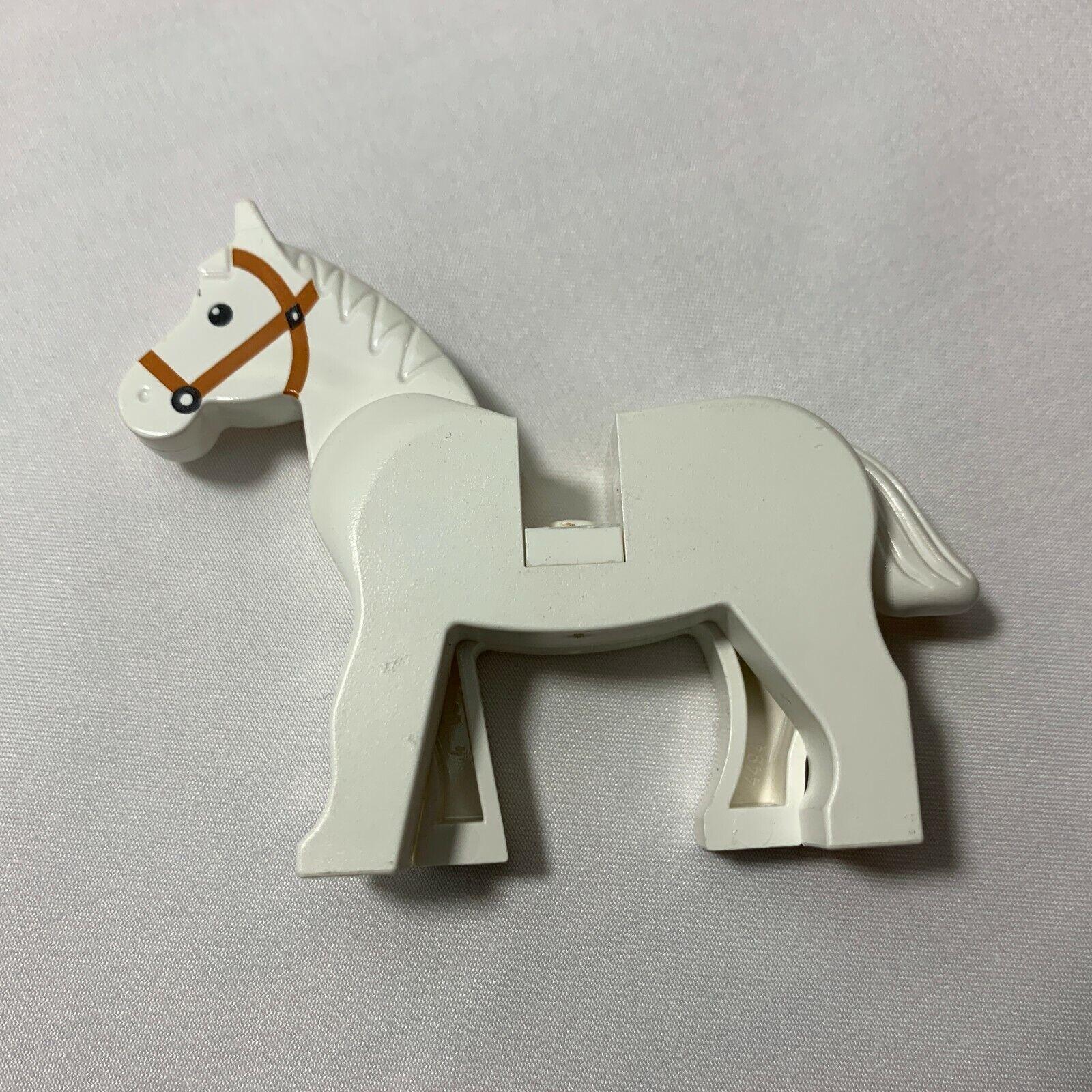 LEGO 4493 BROWN HORSE BLK EYES WHITE PUPILS /& DARK ORANGE BRIDLE PATTERN x 1