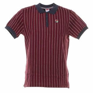 Polo-Vintage-shirt-uomo-FILA-mod-3920530706-classic-M-C-100-Cotone-Col-Bordeaux