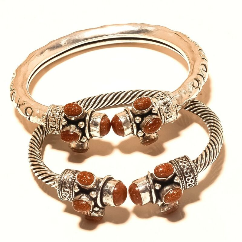 Lot Cuff Free Shipping Sunstone Silver Plated Jewellery Wp708