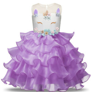 Blumenmaedchen-Prinzessin-Fest-Kind-Kleid-Party-Hochzeit-Maedchen-Kommunion-BC648