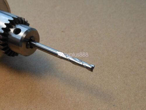 "10pcs 3.175mm 1//8/"" 2 Flute Carbite spiral End Mill Cutter CNC Bit 20mm CEL"