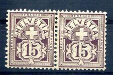 SCHWEIZ 1882 57Y * PAAR 140€(J0545