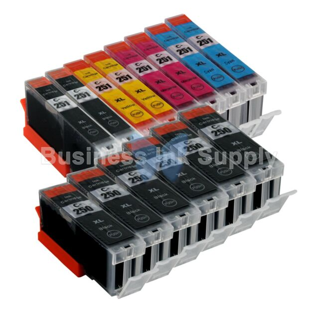 14+PACK CLI-251XL Ink Tank For Canon Printer PIXMA MG5520