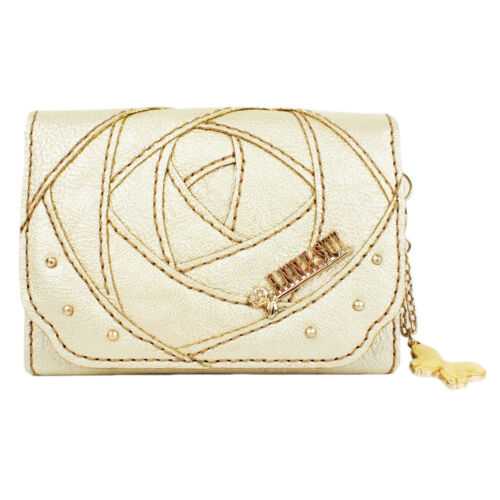Rose Metallic Anna Wallet 100 Authentic Card Sui Case Gold Leather atqaY5Hxw