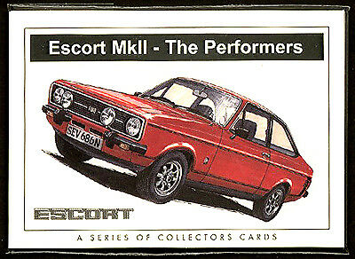 FORD ESCORT MkII THE PERFORMERS  Collectors Card Set RS2000 RS1600 Ghia Mexico