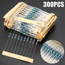 Mix UK 300 Pack 10 Each 30 Values Resistors Metal Film 1//4W 1/% Assortment