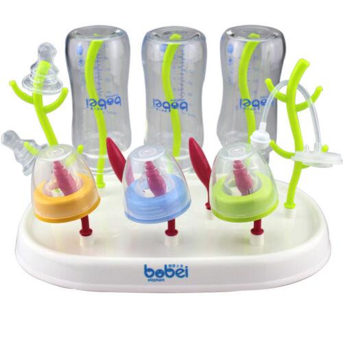 Baby Kid Milk Bottle Dryer Feeding Drainer Cup Drying Rack Shelf Storage Holder